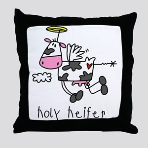 Holy Heifer Throw Pillow